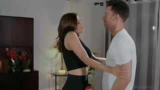 Slutty stepmom with big boobs Alexis Fawx is fucked by brutal stepson