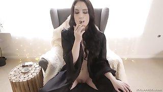 Oversexed beauty Anna De Ville tends to get wild after smoking a cigarette