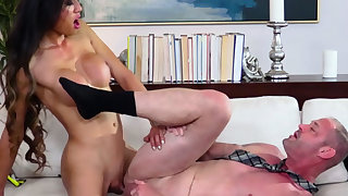 Big boobed asian TS got laid her lovers booty from behind