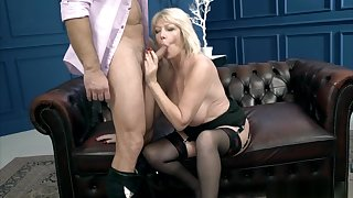 Big Tits Blonde Gilf Plowed Vigorously