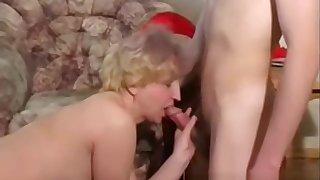 Blonde chubby Russian MILF