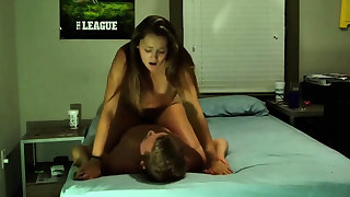 Hot college couple making love