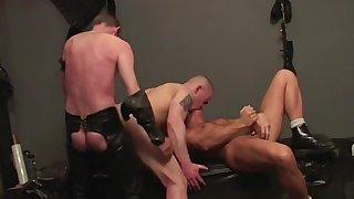 Naked gays ass fuck in mutual BDSM gay play