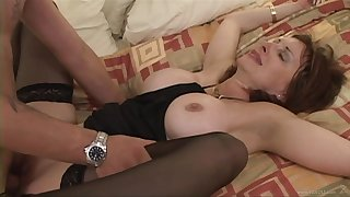 He could not resist the temptation to fuck this horny cougar