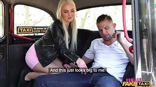 Dick loving Lovita Fate spreads her legs to ride a taxi driver