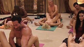Steamy tantric sex between swingers