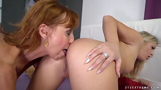 Two older lesbo darlings Cayla Lyons and Lotty Blue will surely impress you, these hotties are wild