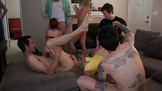 Hardcore swinger party in the apartment with Charisma Capelli