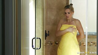 Passionate fucking in the living room with blonde wife Tanya Tate