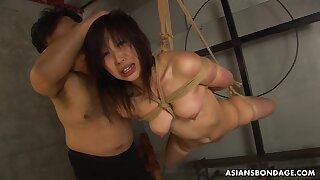 Naughty girl, Kana Sato got tied up and throatfucked