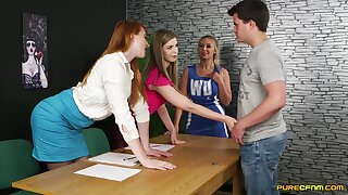 smooth CFNM at the office with a bunch of hotties