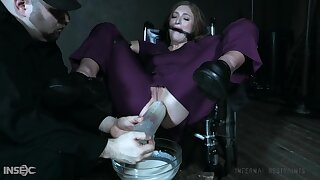Kinky perv is punishing tied up hooker in ripped leggings Skylar Snow
