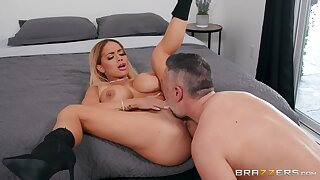 Latina with thick ass, seductive bedroom sex and orgasm