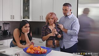 Horny dude fucks both his bitch and her slutty ass daughter