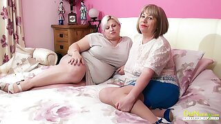 OLDNANNY Busty Mature Squirearchy Bringing off Lesbian Games
