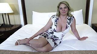 Big ass and titties fair-haired MILF