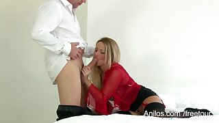 Hot Sexually charged milf Taylor J Morgan takes cumshots on D-cup Bristols