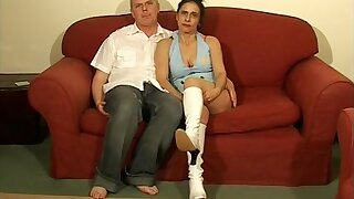 Adorable joyless Anna Milf spreads her feet to be fucked in missionary