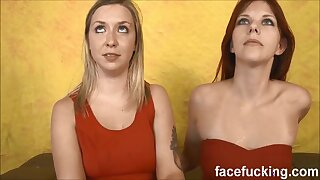four way gonzo account drilling for lesbos Zara & Annabel