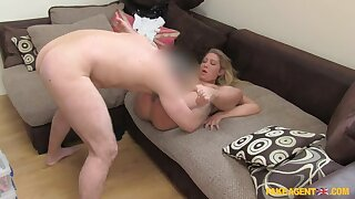 Young Blonde BabeGives Up On Her Modeling Dreams To Suck Cock