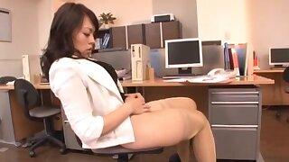 Homemade video with a babe debilitating stockings - Reiko Nakamori