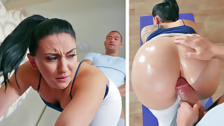 Sport trainer romps assfuck dark haired moans relating to ache