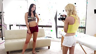 Video be expeditious for amazing threesome with models Aidra Fox and Skylar Green