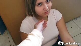 Handcuffed Eighteen Years Old Moans To the fullest Im Shagging Her From Behind - Homemade Making love