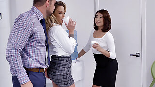Primary have 3 way intercourse with workers