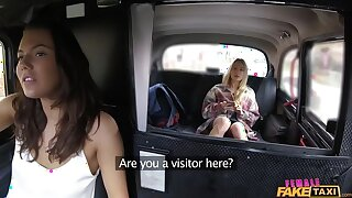 Visitor Gets Tour of Cabbie's Pussy