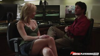 Incredibly hot and charming MILF is fond of brutal sideways banging
