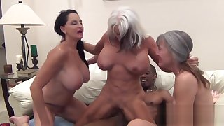 PenisColada - Three Milfs and a Black Cock
