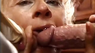 Mom kitchen double penetration
