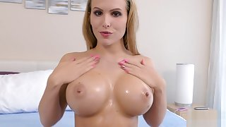 Katie Banks - Oiled Up Titty Fuck
