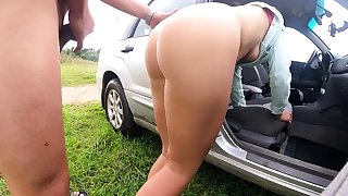 Outdoor fucking and sucking from reality aussie couple
