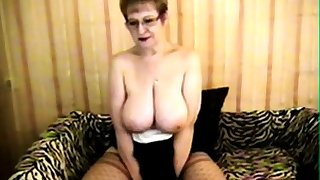 Busty Cougar at play -NH