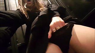 Solo masturbation with panties